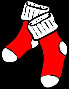 chaussettes rouges pour bien s'ancrer et dormir